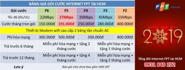 Bảng giá lắp mạng wifi FPT 2019